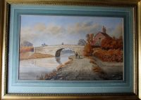 The Old Bridge, Lady Bay, Nottingham, watercolour, signed Wm. Fred Austin. c1870.
