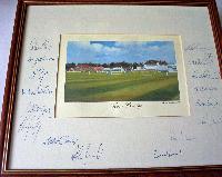 Autographed prints.