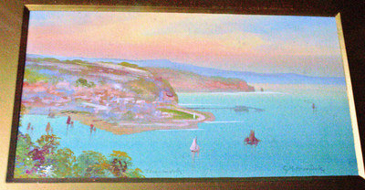 TEIGNMOUTH  WATERCOLOUR ON PAPER FRAMED AND GLAZED SIGNED G.M.AVONDALE c191