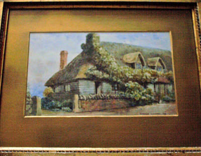 A COTTAGE, WATERCOLOUR  SIGNED THOMAS LOUND 1826 FRAMED AND GLAZED