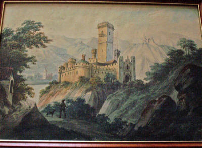 THE CHATEAU, A WATERCOLOUR PAINTING ON PAPER, FRAMED AND GLAZED, UNSIGNED c
