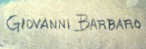 Giovanni Barbaro signature.