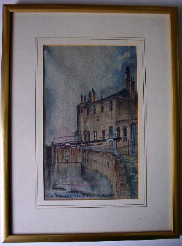 Canal Rise from Dudley Road Birmingham by Laurence Hayfield dated 1985.  SOLD 24.06.2014.