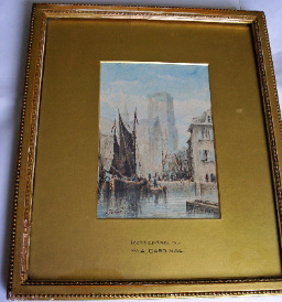 ROTTERDAM  BY  A. CARDINAL c1890.   SOLD.