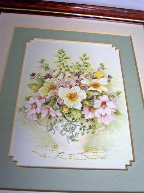 Open edition print of flowers display