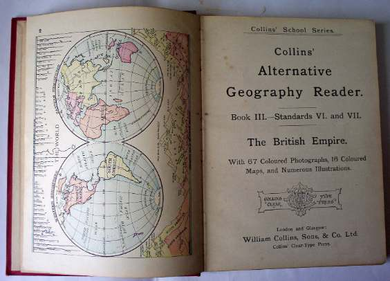 Title page Collins' Alternative Geography Reader.