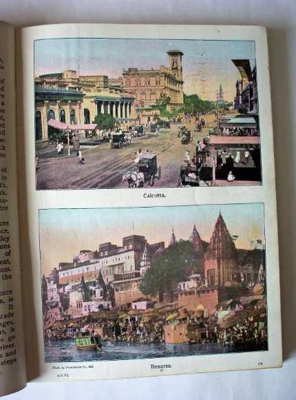 2 colour photos of Calcutta and Benares Indian c1890.