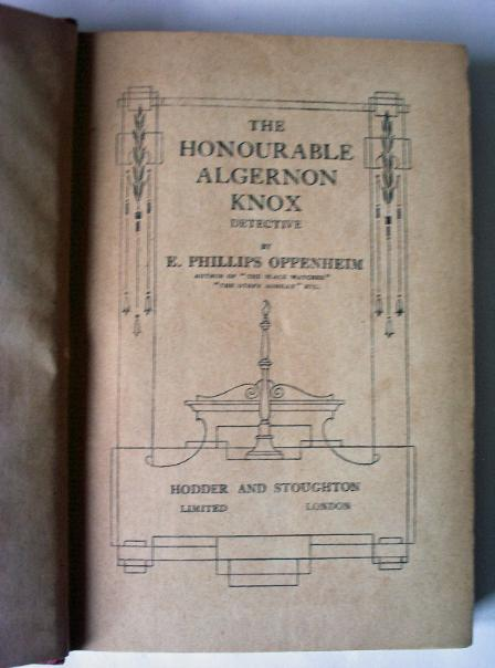 Title page The Hon Algernon Knox