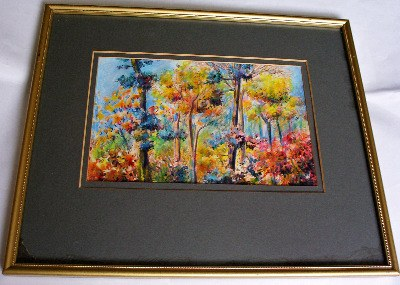 Jungle Sunset, Darwin by Holmes Buglass. Watercolour on paper c1970.