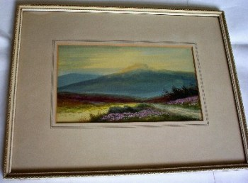 Moorland landscape, watercolour and gouache on paper, signed Alfred Grahame, c1920. Framed.