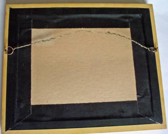 Back of the frame.