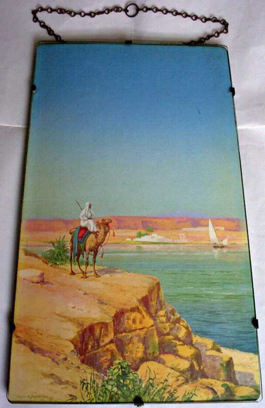 Tribesman on camel looking across the Nile by Hassan el Yashmid.