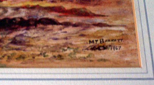 M.T. Barratt signature.