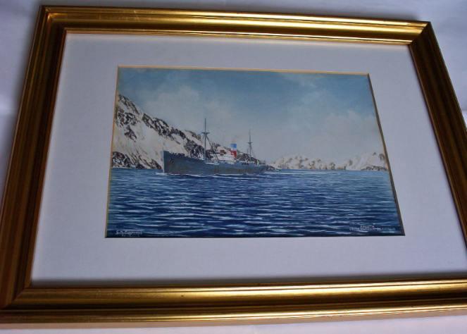 ss Saluta entering Leith Harbour So Georgia 1987