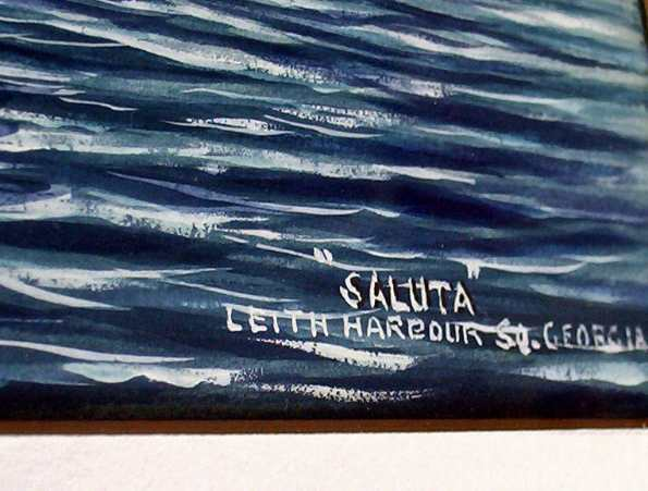 "Title ""Saluta"" Leith Harbour So. Georgia lower rh corner."