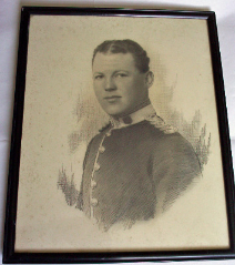 Drawing of an Army Officer, unidentified and unsigned c1890.  SOLD.