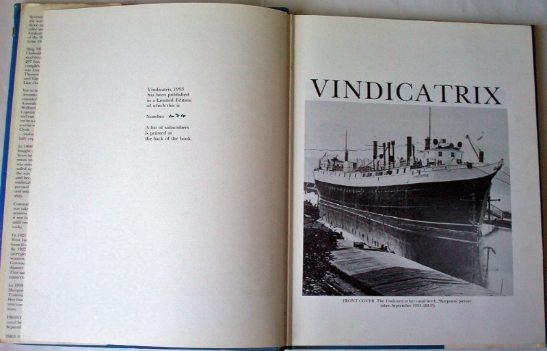 Vindicatrix Sept 1953 and facing.