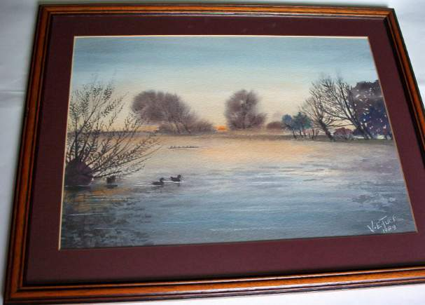Watercolour painting signed V.E. Tuff.