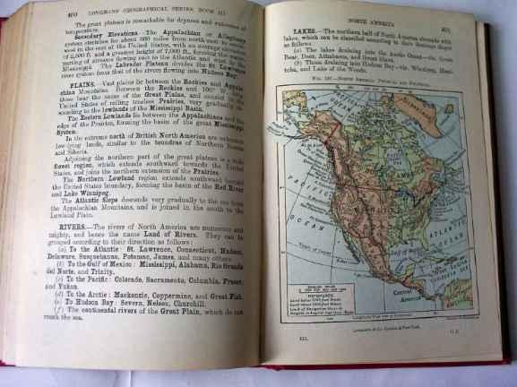 Colour Illustration of North America.