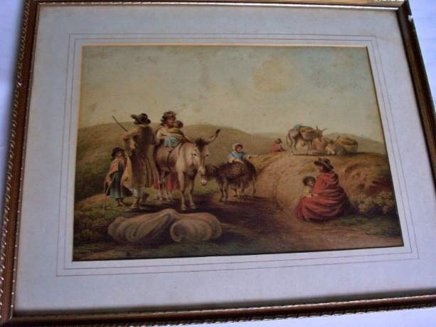 Watercolour painting of Gipsies by John Warwick Smith c1810.