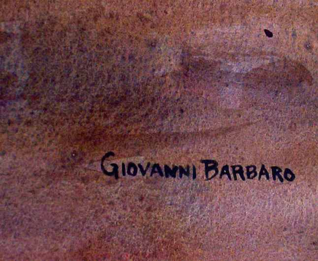 Giovanni Barbaro's signature on The View of the Pyramid