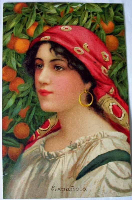 Espanola, postcard, signed G. Barbaro.