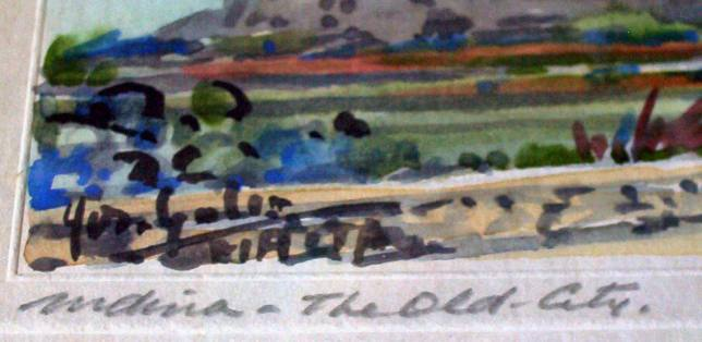 Artist's signature and title.