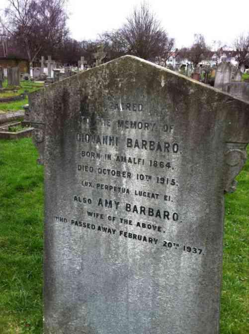 Barbaro gravestone