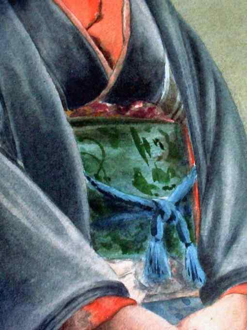 Kimono detail.