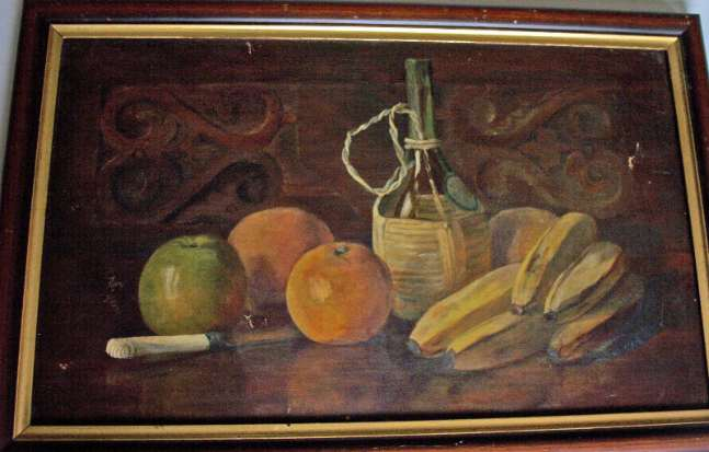 Still-life study, oil on canvas.