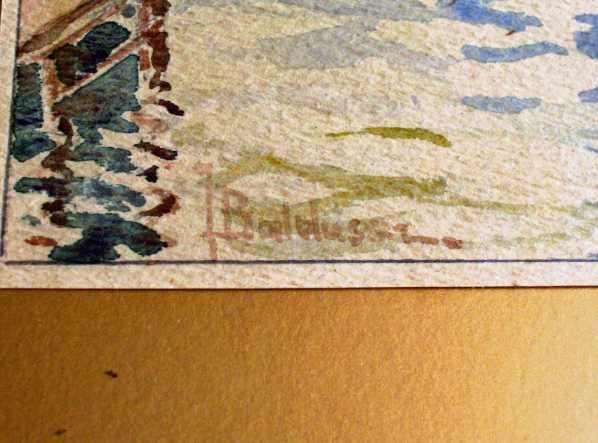 The artist's signature.