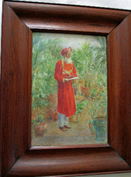 The Bearer, Anglo-Indian School, watercolour, signed Sylvia Gauntlett, c1890.    SOLD.