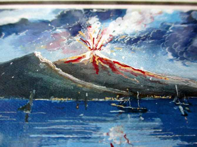 Detailed view of Vesuvius.