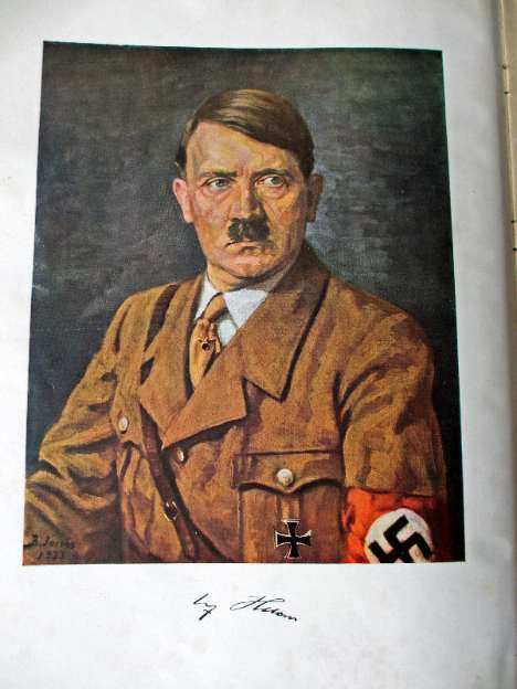 Adolf Hitler, painting by B. Jacobs 1933.