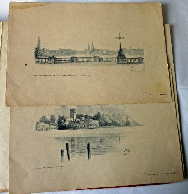 Sample of drawings of Hamburg