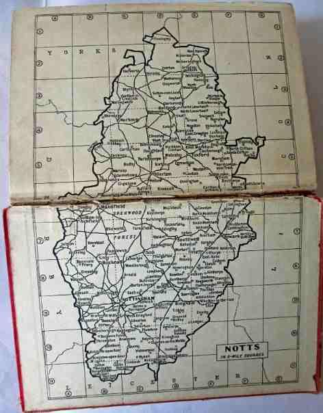 Map of Nottinghamshire.