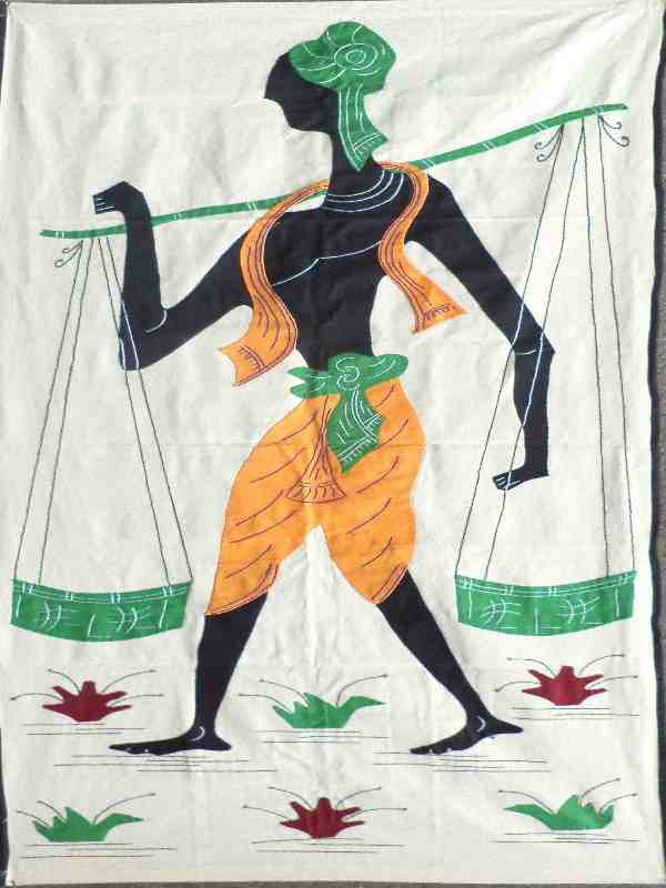 Traditional khadi handicraft work from Jharkhand State India.