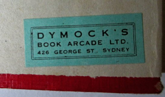 Book dealer's label.