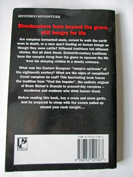 The back cover with summary.