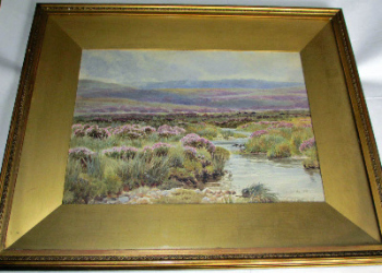 Dartmoor landscape near Chagford, signed W.S. Morrish, 1891.  SOLD  20.01.2014.