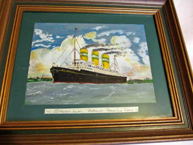 Maritime oil painting signed DT Gray.