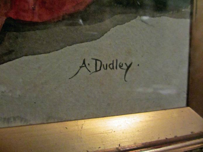 A. Dudley signature on later works c1901.