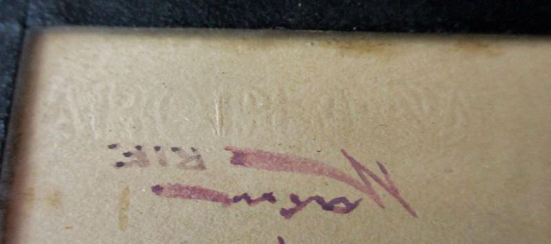 View of the printed script below signature.