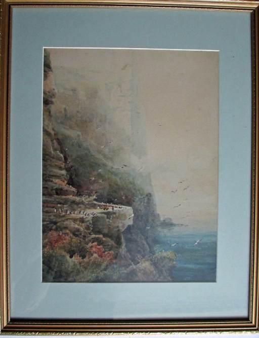 Full view of framed painting.