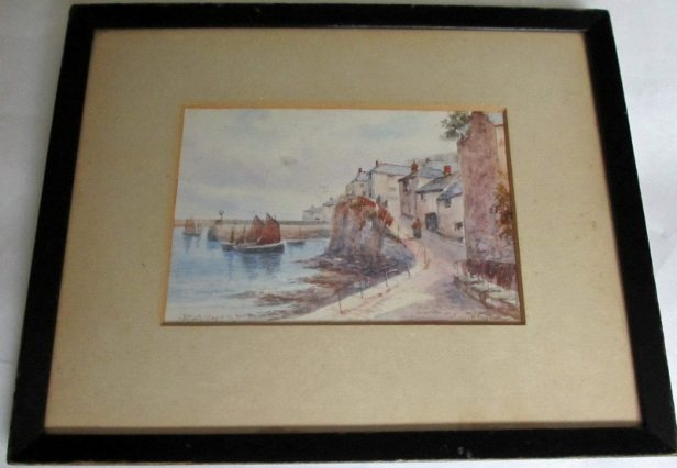 The framed painting.