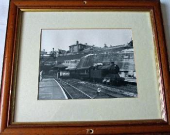 4-6-2T 3MT Class A5 69808 arriving Nottingham Victoria Station c1959.