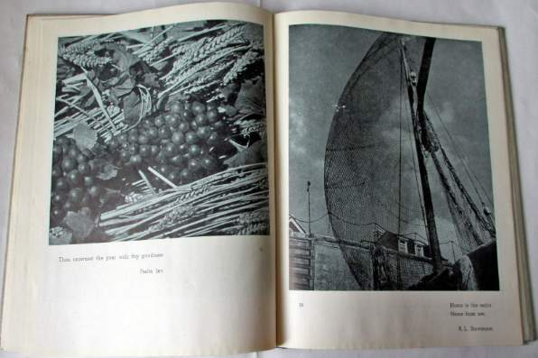 Sample pages 52/53 with photos of grapes and fishing boats,