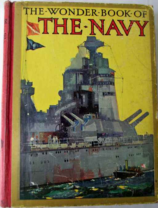 The front cover of The Wonder Book of  The Navy.