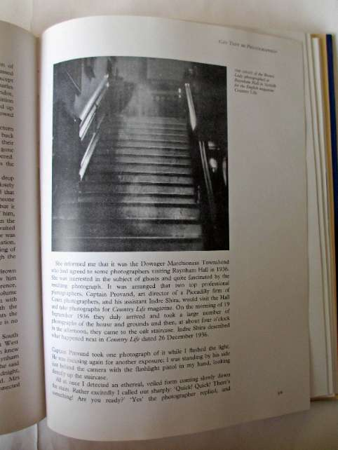 Page 69 with photo of the ghost of the Brown Lady at Raynham Hall in Norfolk.