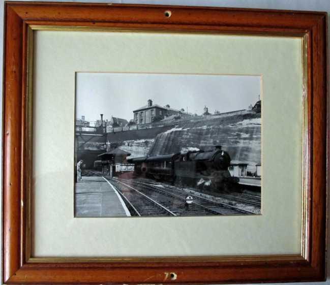 Steam locomotive 69808 Class A5/1 arriving Nottingham Victoria Station c1959.